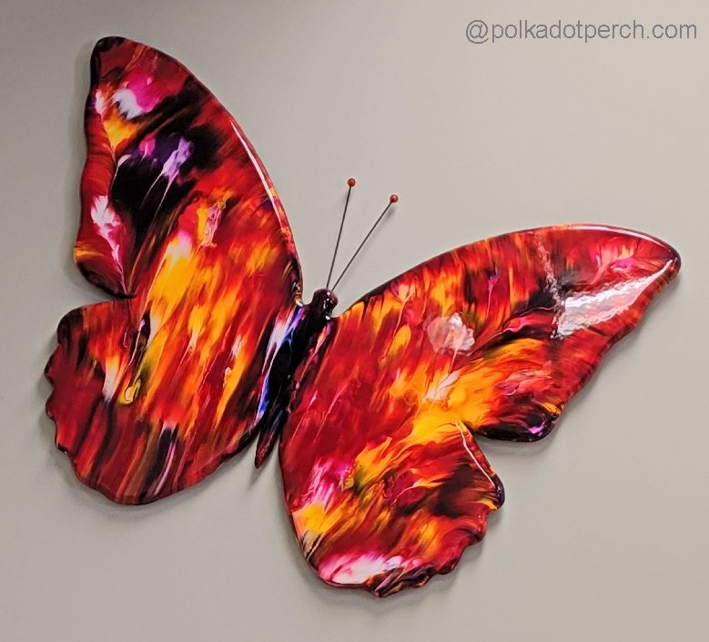 Artwork by Gregory Lashbrook red and yellow butterfly